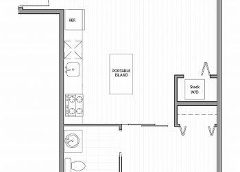 1 Bedroom, 1 Bathroom 507 sq ft.