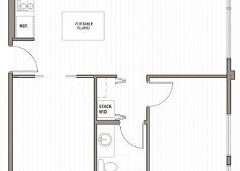 2 Bedroom / 1 Bathroom 734 sq ft.